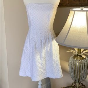 Lilly Pulitzer white strapless dress size 6